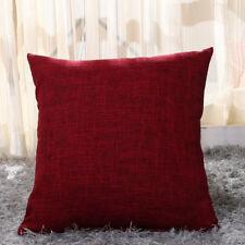 Vintage Cotton Linen Pillow Case Sofa Waist Throw Cushion Cover Home Decor