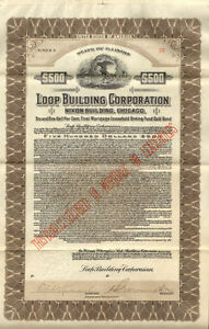 Loop Building Corporation > Nixon Building Chicago Illinois 1925 gold bond