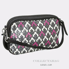 Authentic Vera Bradley Shimmer Wristlet Canterberry Magenta 12521-149