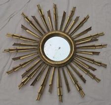 Miroir soleil bois doré feuilles d'or 81 cm de diamètre