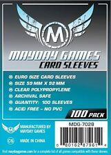 100 Buste Protettive Giochi da Tavolo / Boardgame Sleeves 59x92 mm MayDay