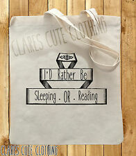 RATHER BE SLEEPING OR READING TOTE/SHOPPING BAGS