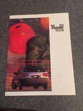 1988 Mercury Tracer Car Auto Dealership Advertising Brochure