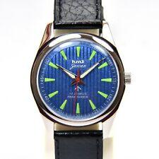 HMT Jawan Blue Pattern Face Cal.020 17 Jewels Hand Winding Wrist Watch Luminous
