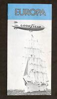 Pubblicità Aeronautica - Brochure Dirigibile Goodyear Europa - anni '70