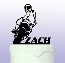 Personalised Race Bike Cake Topper Racing Motorbike