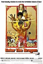 Framed Bruce Lee Movie Print – Enter the Dragon 1973 (MMA Martial Arts Picture)
