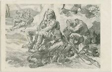 German WW1 Postcard Verdun 1916 By Alb. Reich Soldiers Last Rest (328)