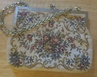 "Vintage Floral Tapestry Handbag  B""x 6"""