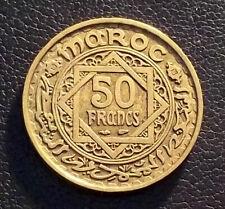 MOROCCO 1952 (AH 1371) - 50 FRANCS - BRONZE - XF