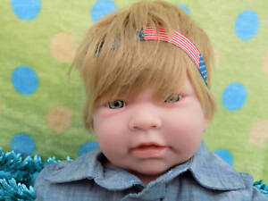 "SUPER DEAL Baby Boy Blond Doll 17"" Berenguer Newborn Reborn Soft Vinyl Silicone"