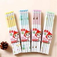 10PCS Cute Pencil HB School Novelty Writing Wooden Pencil Kids  Color Random