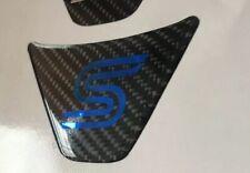 Ford Fiesta Mk7 Mk8 S Gel Badge Steering Wheel ST  Carbon / Blue Chrome
