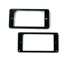 Set of 2 Humbucker Pickup Mounting Rings bridge/neck ,Flat bottom Black