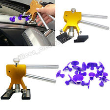 Car Body Paintless Dent Repair Tools PDR Puller Removal w/ 16 Glue Pulling Tabs