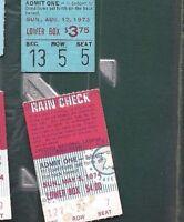 1974 5/5 baseball ticket Cincinnati Reds Chicago Cubs Johnny Bench Joe Morgan HR