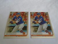 2019 TOPPS CHROME PETE ALONSO RC #204 LOT X2 CARDS NEW YORK METS