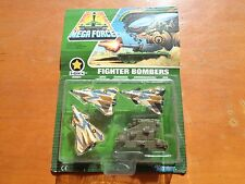 MEGA FORCE V.ROCS ARMY KENNER 1989 FIGHTER BOMBERS CON HANGAR NUOVO