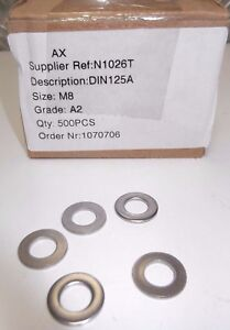 500X 8MM M8 A2 Stainless Steel Flat Washers   DIN125A