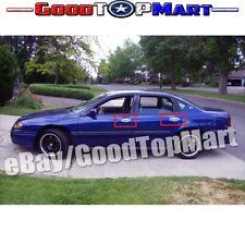 For Chevy IMPALA 2000-02 03 2004 2005 Chrome Covers Full Mirrors+4 Doors w/o PK