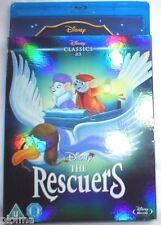 Walt Disney's THE RESCUERS Blu-Ray New Region-Free UK Import CLASSICS SLIPCOVER