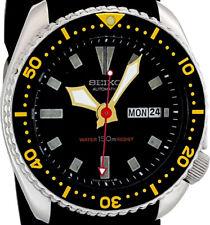 "Vintage Mens Watch SEIKO 6309 Diver Mod w/Gold ""Mace"" & Red ""Kayak"" SS Hands Set"