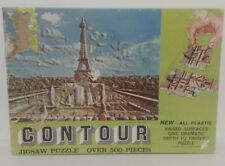 1968 Milton Bradley CONTOUR Jigsaw Puzzle #3-PARIS IN THE SPRING--Challenging!