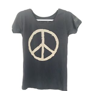 """AMERICAN EAGLE OUTFITTERS Short Sleeve """"PEACE """"  t-Shirt  Size M Dark Grey"""