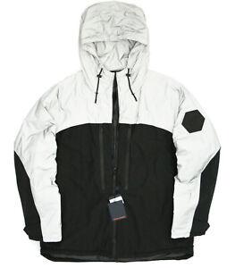 LOUIS VUITTON space logo patch reflective gray puffer coat ski jacket 58 NEW