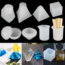 18pcs Resin Casting Silicone Molds Epoxy Spoon Kit Jewelry Making Pendant Craft