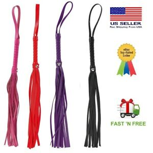 Premium BDSM Whip Genuine Leather Flogger Adult Sex Toys for Couples Play