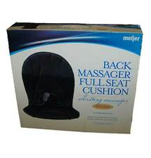 Meijer Full Seat Vibrating & Heated Back Massager With Lumbar Support New!