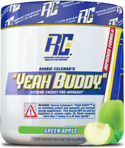 * RONNIE COLEMAN YEAH BUDDY PRE-WORKOUT (30 SERVE) 270G - GREEN APPLE *