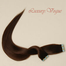 "20"" Salon Remy A+ European Hair Seamless Tape-in Extension #4 (Med/Dark Brown)"