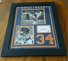 "WALTER PAYTON CHICAGO BEARS SIGNED 19.5"" X 23.5"" CUSTOM FRAMED CUT DISPLAY"