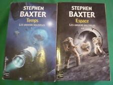 LOT 2 LIVRES.LES UNIVERS MULTIPLES.S. BAXTER.TOME 1&2.2007.ED. FLEUVE NOIR