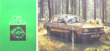 Opel Ascona B 1.6 1.9 Standard Deluxe Berlina 1977-78 Original UK Sales Brochure