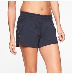 "Athleta Racer Run Shorts 4.5"" Navy Women's Small"