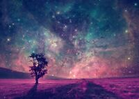Amazing Blue & Pink Stary Space Poster Size A4 / A3 Nature Poster Gift #8330
