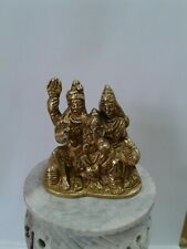 Shiv family ganesha parvati Statue In Brass 3 Inches Height Idol  USA Seller
