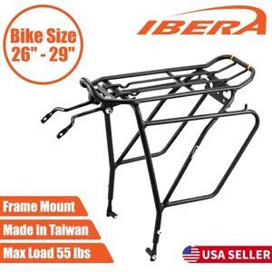 Ibera Bike Rear Rack Touring Carrier Plus for Disc Brake Mount MTB Fat Tire Bike