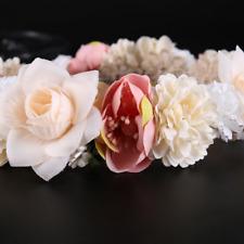 Bridal Silk Daisy Rose Flower Garland Wedding Tiara Headband Hair Clip Jewelry