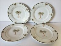 Everyday Gibson Bahama Bay Green Palm Salad Plates Lot Of 7