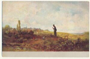 German painting post card - Carl Spitzweg