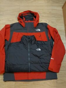 THE NORTH FACE GORE-TEX TRICLIMATE 3IN1 MEN'S HOODED WATERPROOF JACKET SIZE L