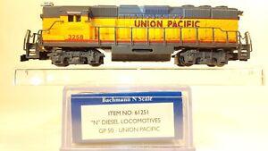 N Bachmann 61251 EMD GP50 Union Pacific Locomotive #3258 (Tested) LNIB