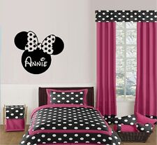 Minnie Silhouette (Custom Name) ~ Wall Decal: Popular Charaters
