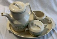 LENOX Temper-Ware Coffee Pot, Sugar Bowl, Creamer with Lids, and Tray 6-pieces