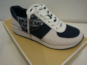 "NIB Women MICHAEL Michael Kors ""Allie"" Trainer Casual Sneakers Navy/Withe 6.5"