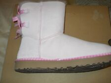 UGG Bailey Bow Gingham Boots Seashell Pink Women's 11 NIB